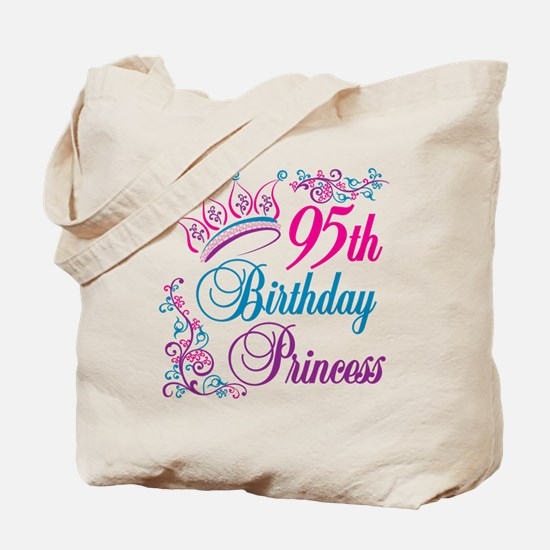 95th Birthday Princess Tote Bag