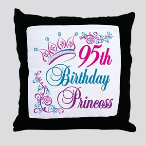 95th Birthday Princess Throw Pillow