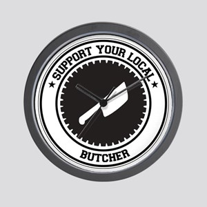 Support Butcher Wall Clock