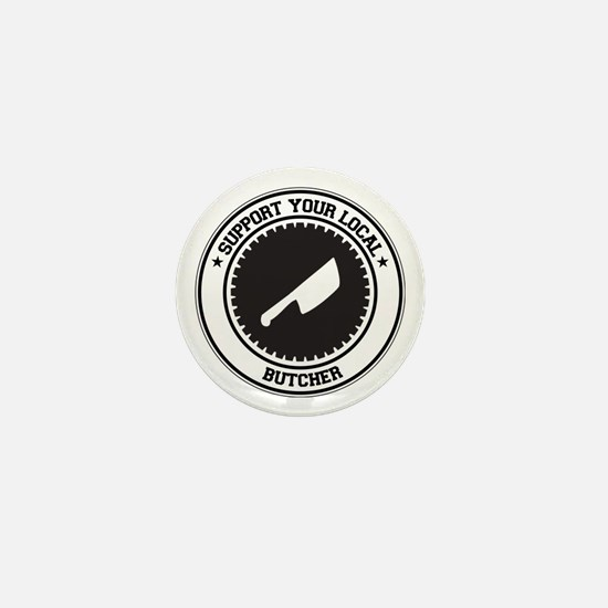 Support Butcher Mini Button