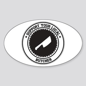 Support Butcher Oval Sticker