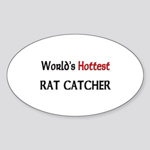 World's Hottest Rat Catcher Oval Sticker