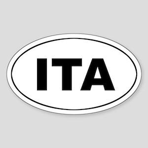 Italy (ITA) Oval Sticker