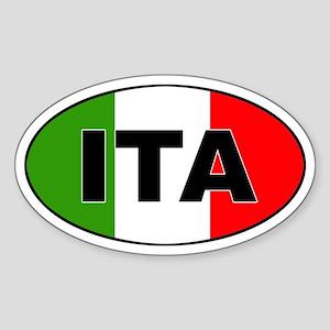 Italy (ITA) Flag Oval Sticker