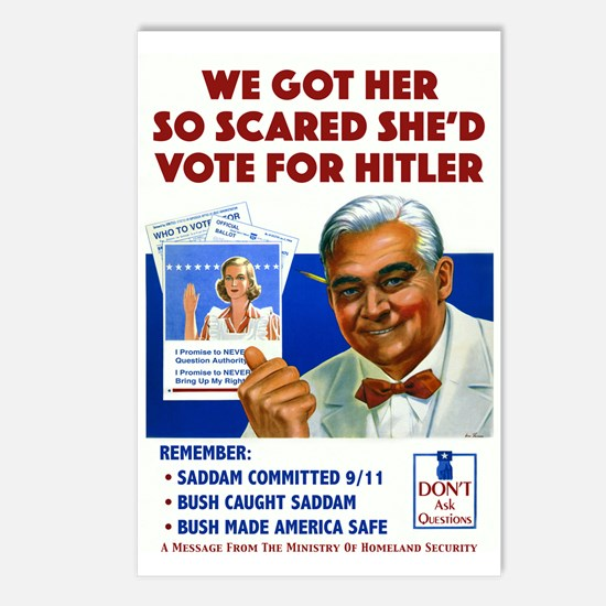 She'd Vote For Hitler Postcards (Package of 8)