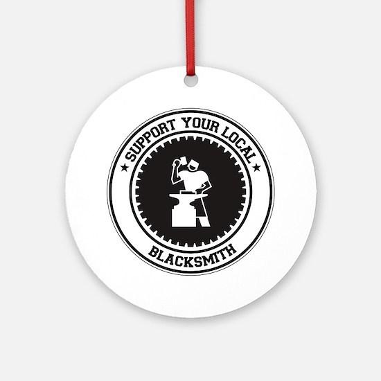 Support Blacksmith Ornament (Round)