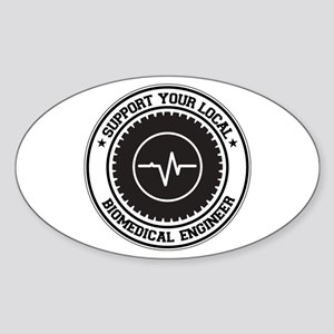 Support Biomedical Engineer Oval Sticker