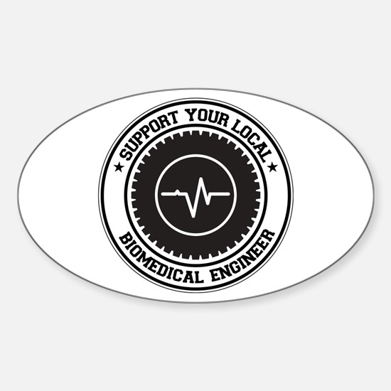 Support Biomedical Engineer Oval Decal