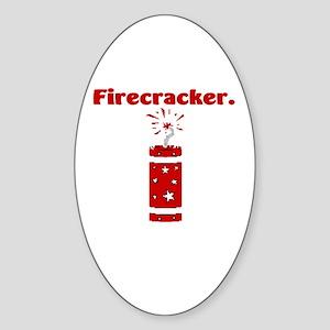 Firecracker Oval Sticker