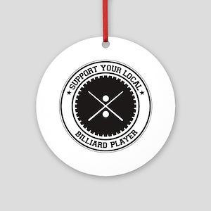 Support Billiard Player Ornament (Round)
