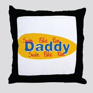 Triathlon Daddy Throw Pillow