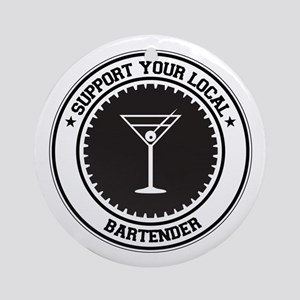 Support Bartender Ornament (Round)