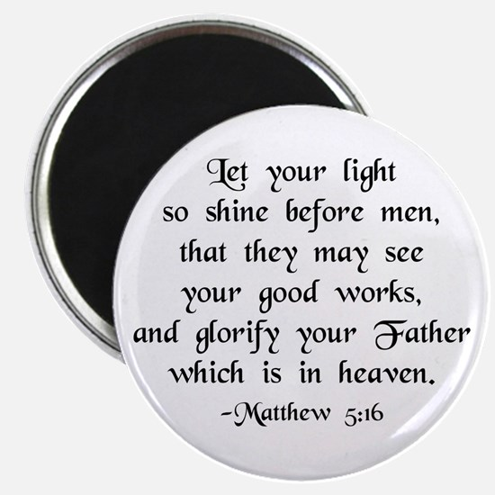 """Let your Light Shine"" [text] 2.25"" Magnets (10)"