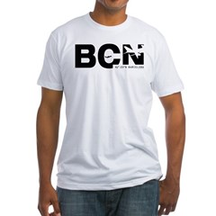 Barcelona Airportcode BCN Black Des Shirt