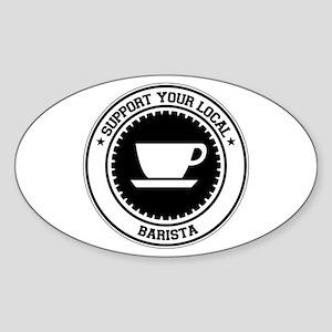 Support Barista Oval Sticker