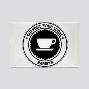 Support Barista Rectangle Magnet