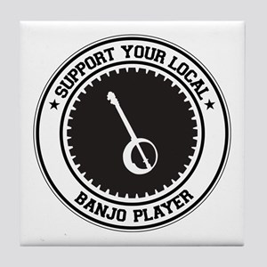 Support Banjo Player Tile Coaster