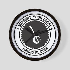 Support Banjo Player Wall Clock