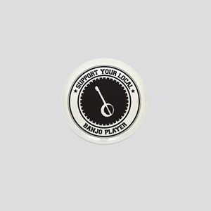 Support Banjo Player Mini Button