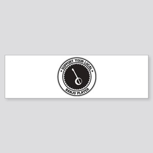 Support Banjo Player Bumper Sticker