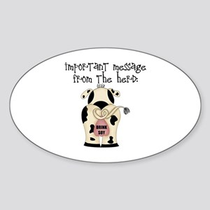 From The Herd, Drink Soy Oval Sticker