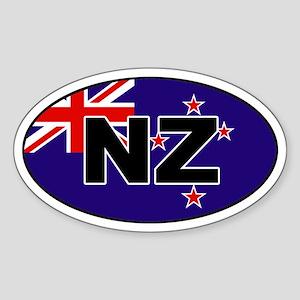 New Zealand (NZ) Flag Oval Sticker