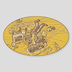 Office Trap Sticker (Oval)