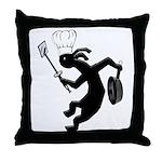 Kokopelli Cook Throw Pillow