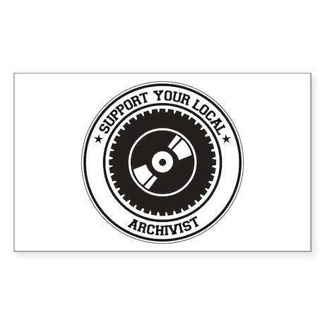 Support Archivist Rectangle Sticker