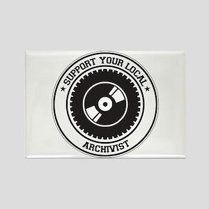 Support Archivist Rectangle Magnet