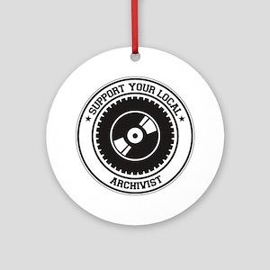Support Archivist Ornament (Round)
