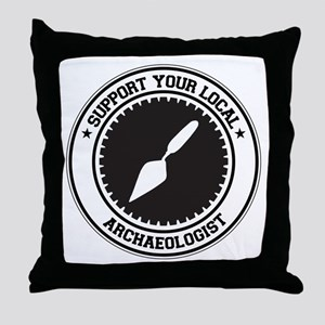 Support Archaeologist Throw Pillow
