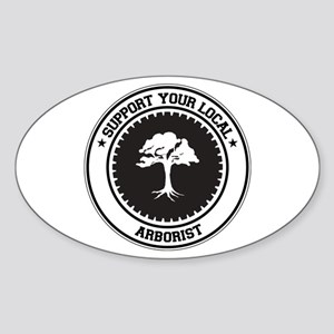 Support Arborist Oval Sticker