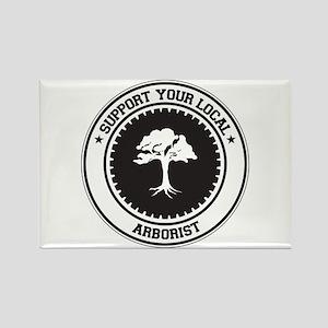 Support Arborist Rectangle Magnet
