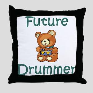 Future Drummer Throw Pillow