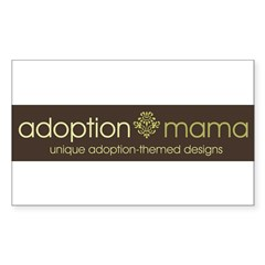 Adoption Mama Brown/Green Log Rectangle Decal