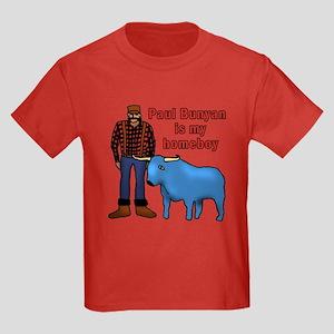 Paul Bunyan is My Homeboy Kids Dark T-Shirt
