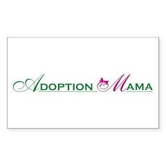 Adoption Mama Pink/Green Logo Rectangle Decal