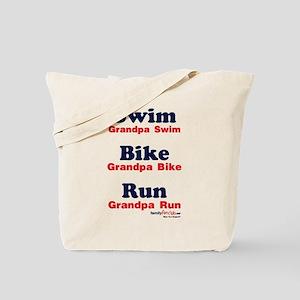 Triathlon Grandpa Tote Bag