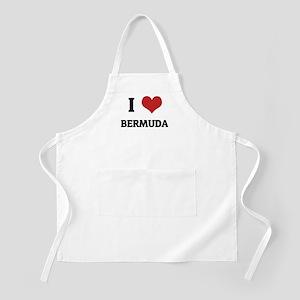 I Love Bermuda BBQ Apron