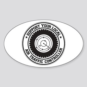 Support Air Traffic Controller Oval Sticker
