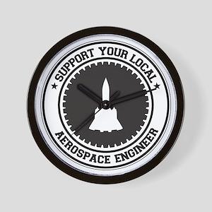 Support Aerospace Engineer Wall Clock