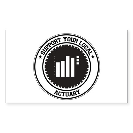 Support Actuary Rectangle Sticker