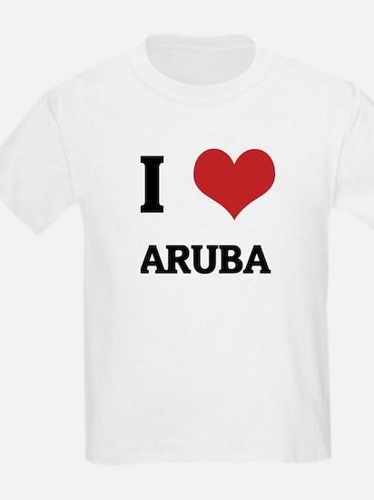 I Love Aruba Kids T-Shirt