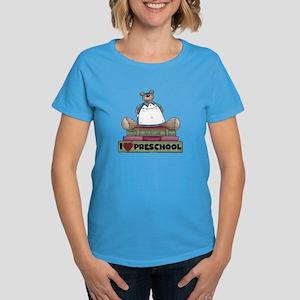 Bear and Books Preschool Women's Dark T-Shirt