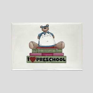 Bear and Books Preschool Rectangle Magnet