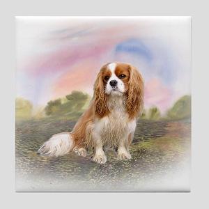 English Toy Spaniel portrait Tile Coaster