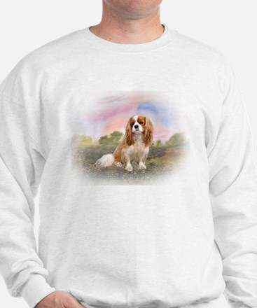 English Toy Spaniel portrait Sweatshirt