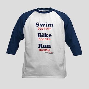 Triathlon Dad Kids Baseball Jersey