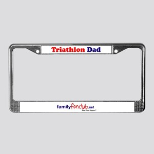 Triathlon Dad License Plate Frame